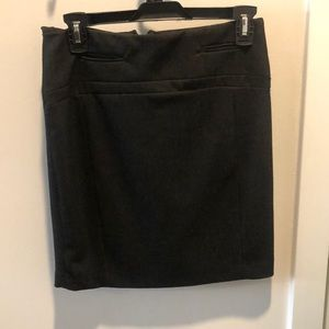 EUC Express High Waist Black Pinstripe Mini